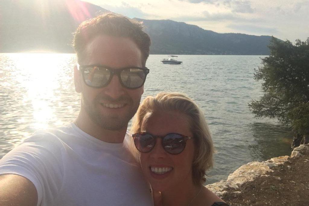 Sharon en Jorrick selfie